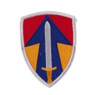 Army Shield Shape Embroidered Military Patch - 2nd Field