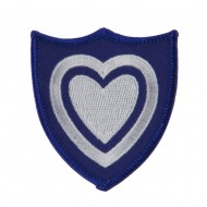 Army Shield Shape Embroidered Military Patch - 24th