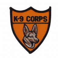 Army Shield Shape Embroidered Military Patch - k9