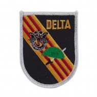 Army Shield Shape Embroidered Military Patch - Delta