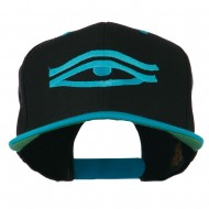 All Seeing Eye Embroidered Flat Bill Cap - Black Teal