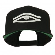 All Seeing Eye Embroidered Flat Bill Cap - Black