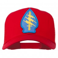 Army Special Force Patched Mesh Cap - Red