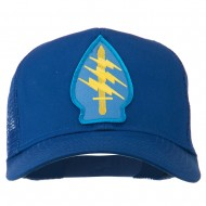 Army Special Force Patched Mesh Cap - Royal