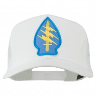 Army Special Force Patched Mesh Cap - White