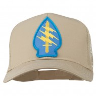 Army Special Force Patched Mesh Cap - Khaki