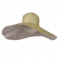 Women's Hat with Ribbon And Wired Brim - Gold