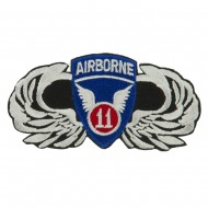 Air Borne Wing Shape Embroidered Military Patch - 11th
