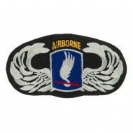 Air Borne Wing Shape Embroidered Military Patch - 173rd