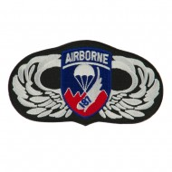 Air Borne Wing Shape Embroidered Military Patch - 187th
