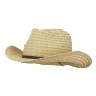 Men's Braided Straw Outback Hat - Natural