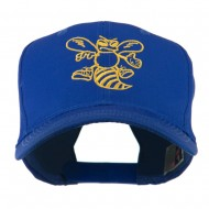Animal Mascot Bee Outline Embroidered Cap - Royal