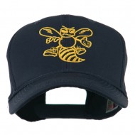 Animal Mascot Bee Outline Embroidered Cap - Navy