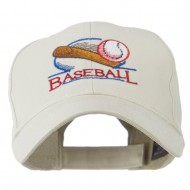 Baseball Bat and Ball Embroidery Cap - Stone