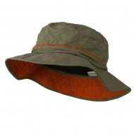 Big Size Adjustable Draw Cord Talson UV Bucket Hat - Olive