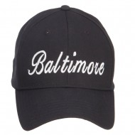 City of Baltimore Embroidered Cotton Cap - Black