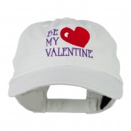 Be My Valentine Embroidery Cap - White