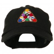 Balls Pool Rack Embroidered Low Profile Washed Cap - Black