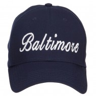 City of Baltimore Embroidered Cotton Cap - Navy
