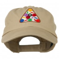 Balls Pool Rack Embroidered Low Profile Washed Cap - Khaki