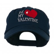 Be My Valentine Embroidery Cap - Navy