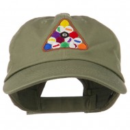 Balls Pool Rack Embroidered Low Profile Washed Cap - Olive