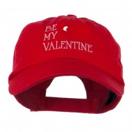 Be My Valentine Embroidery Cap - Red