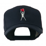Breast Cancer Body Figure Heart Embroidery Cap - Navy
