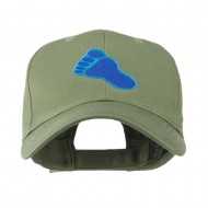 Bigfoot Track Mascot Embroidery Cap - Olive