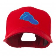 Bigfoot Track Mascot Embroidery Cap - Red