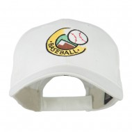 Baseball Logo Embroidery Cap - White