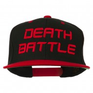 Halloween Death Battle Embroidered Snapback Cap - Black Red