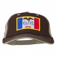 Big Mesh State Iowa Patch Cap - Brown Beige
