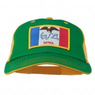 Big Mesh State Iowa Patch Cap - Kelly Gold