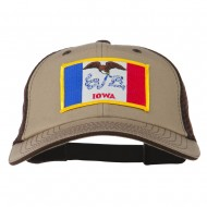 Big Mesh State Iowa Patch Cap - Khaki Brown
