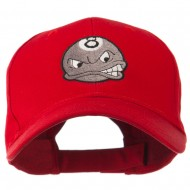 Billiard 8 Ball Face Embroidery Cap - Red
