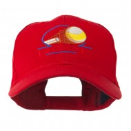 Billiard Pool Logo Embroidered Cap - Red