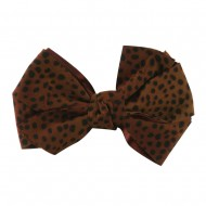 Women's Animal Print Bow Tie Pin Clip - Rust
