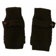 7 Inches Thumb Basket Weave Arm Warmer - Brown