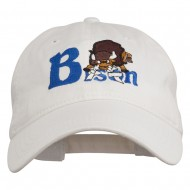 Bison Mascots Embroidered Washed Cap - White