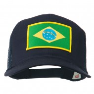 Brazil Flag Patched Mesh Cap - Navy