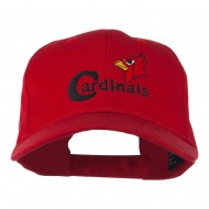 Cardinals with Bird Head Embroidered Cap - Red