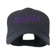 Celebrate Wording Embroidered Cap - Navy