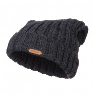 Deep Crown Cuff Long Beanie - Charcoal
