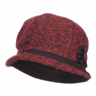 Women's Rolled Brim Cabbie Cap - Red