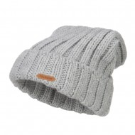 Deep Crown Cuff Long Beanie - Heather Grey