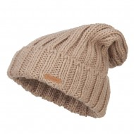 Deep Crown Cuff Long Beanie - Tan
