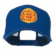 Circular Celtic Design Embroidered Trucker Cap - Royal