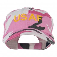 USAF Military Embroidered Camo Cap - Pink