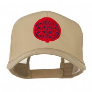 Circular Celtic Design Embroidered Trucker Cap - Khaki